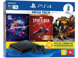 Playstation 4 Slim 1TB Dreams + Marvel Spider-Man + Infamous Second Son + 3 Meses Playstation Plus