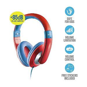 Fone de Ouvido Headphone Trust Sonin Kids com Controle de Volume Vermelho