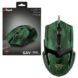 Mouse Gamer Trust Gav GXT 101C GAV Camuflado 4800dpi 6 botões