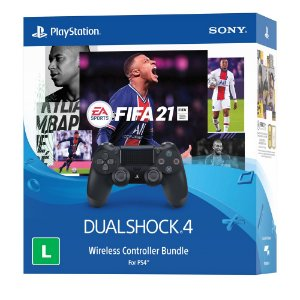 PS4 Fifa 21 Midia Digital Com Controle Dualshock 4 (Bundle)