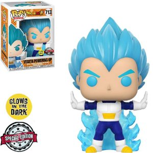 Funko Pop Dragon Ball Z7 Vegeta Powering Up Glow In The Dark *EX* 713