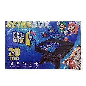 Retro Box Console Retro 20 mil Jogos HDMI + Controle Sem Fio + Controle Remoto