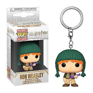 Chaveiro Funko Pop! Keychain: Harry Potter - Ron Weasley (Holiday)