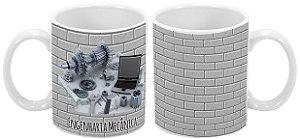 Caneca Profissão 300 ml Engenharia Mecânica (Cinza) - 1 unidade