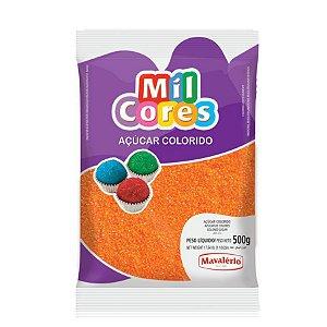 Açúcar Colorido Laranja Mil Cores 500gr