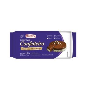 COBERTURA CONFEITEIRO SABOR CHOCOLATE MEIO AMARGO MAVALÉRIO - 1,01kg