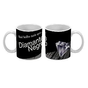 Caneca Divertida 300ml Diamante Negro - 1 unidade