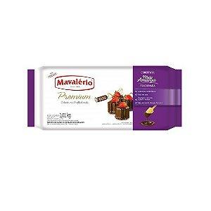 COBERTURA PREMIUM SABOR CHOCOLATE MEIO AMARGO MAVALÉRIO - 1,01kg