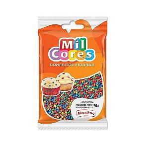 Confeito Figura Mini Confetes Mil Cores - 50gr