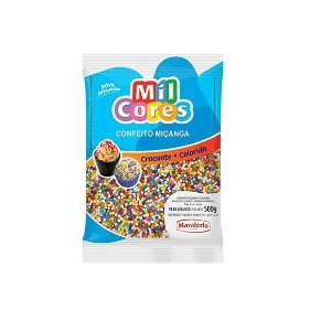 Confeito Miçanga Colorida Nº 0 Mil Cores - 500gr