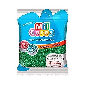 Confeito Miçanga Verde Nº 0 Mil Cores - 150gr