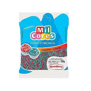 Confeito Miçanga Verde e Vermelho Nº 0 Mil Cores - 150gr