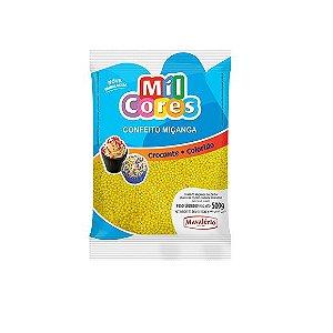 Confeito Miçanga Amarela Nº 0 Mil Cores - 500gr