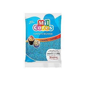 Confeito Miçanga Azul Nº 0 Mil Cores - 500gr