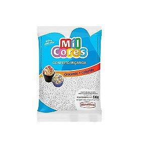 Confeito Miçanga Branca Nº 0 Mil Cores - 500gr