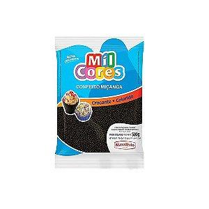 Confeito Miçanga Preta Nº 0 Mil Cores - 500gr
