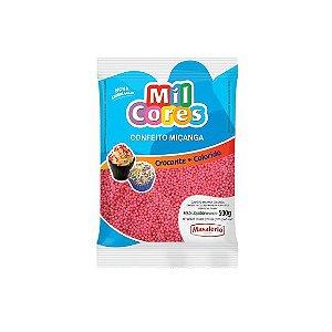 Confeito Miçanga Rosa Nº 0 Mil Cores - 500gr