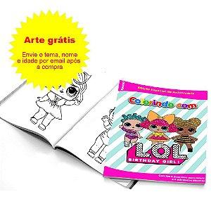 5 Cadernos de Colorir Personalizados