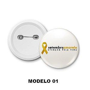 Boton de Campanha Setembro Amarelo  - 15 Unidades