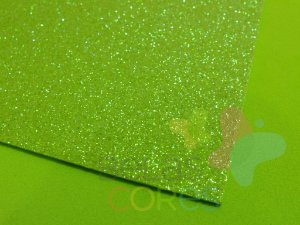 Folha de EVA 40x60cm - Glitter Neon Verde - 5 unidades