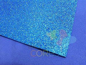 Folha de EVA 40x60cm - Glitter Azul Escuro - 5 unidades