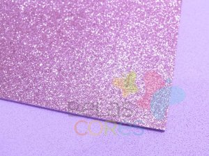 Folha de EVA 40x60cm - Glitter Lilás - 5 unidades