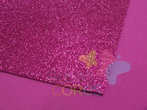 Folha de EVA 40x60cm - Glitter Pink - 5 unidades