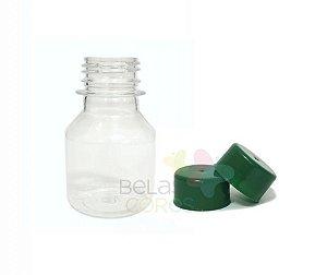 Garrafinha PET Pitoca 70 ml - Tampa Verde Bandeira - 10 unidades