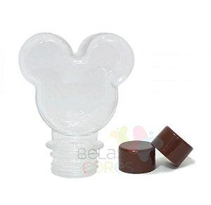Baleiro/Tubete Mickey 90ml Tampa Marrom - 10 unidades