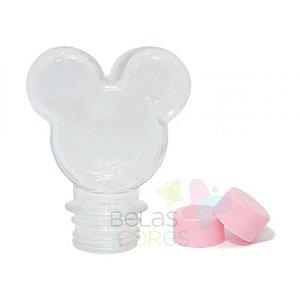 Baleiro/Tubete Mickey 90ml Tampa Rosa - 10 unidades