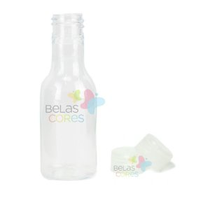 Garrafinhas Plásticas 50ml - Pet - Tampa Plástica Transparente - Kit c/ 50