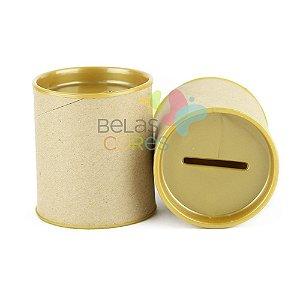 Mini Cofrinho 7x6 Dourado- Kit c/ 10 unidades