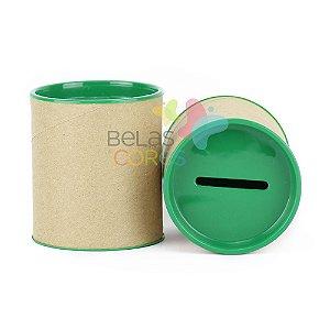 Mini Cofrinho 7x6 Verde Bandeira - Kit c/ 10 unidades