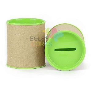 Mini Cofrinho 7x6 Verde Limão - Kit c/ 10 unidades