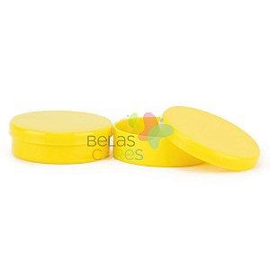 Atacado - Latinhas de Plástico Mint to Be 5,5x1,5 cm Amarela - Kit com 500 unidades