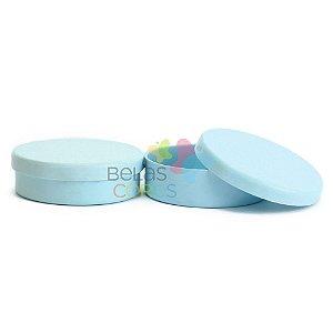 Latinhas de Plástico Mint to Be 5,5x1,5 cm Azul Claro - Kit com 100 unidades
