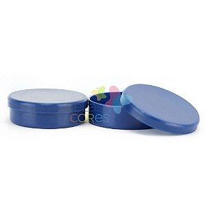 Latinhas de Plástico Mint to Be 5,5x1,5 cm Azul Marinho - Kit com 100 unidade