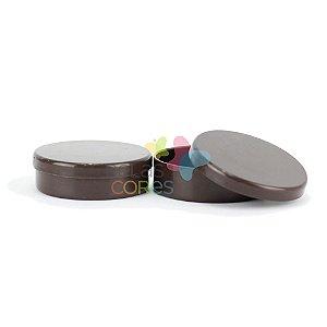 Atacado - Latinhas de Plástico Mint to Be 5,5x1,5 cm Marrom - Kit com 500 unidades
