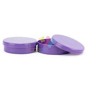 Atacado - Latinhas de Plástico Mint to Be 5,5x1,5 cm Roxa - Kit com 500 unidades