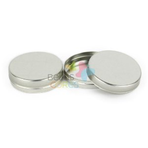 Atacado - Latinhas em Metal Mint to Be 5,5x1,5 cm Prata - Kit com 500 unidades
