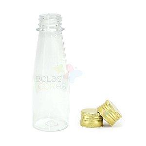 Garrafinha Cajuzinho - Suco PET 100 ml Tampa Metal Dourada - 10 unidades