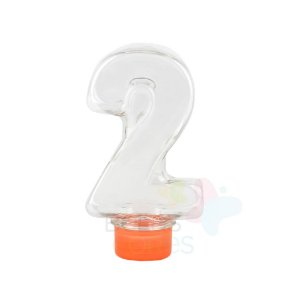 Tubete Pet Número 2 - 80 ml Tampa Laranja - 10 unidades