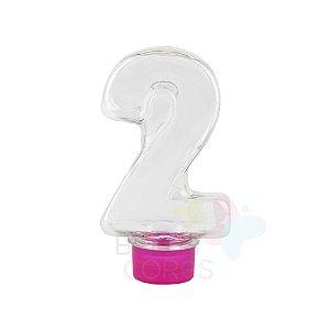 Tubete Pet Número 2 - 80 ml Tampa Pink - 10 unidades