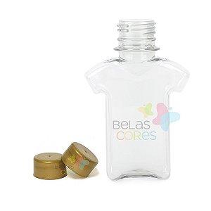 Tubete/Baleiro Pet Camisetinha 120 ml Tampa Dourada - 10 unidades