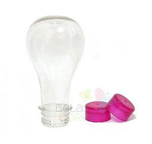 Tubete/Baleiro Pet Lâmpada/Boliche 100 ml Tampa Pink - 10 unidades