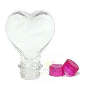 Tubete Pet Coração 15 Anos 100ml Tampa Pink - 10 unidades