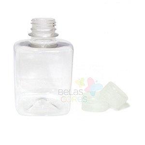 Frasco Quadrado 250 ml Tampa Transparente - 10 unidades