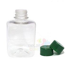 Frasco Quadrado 250 ml Tampa Verde Bandeira- 10 unidades