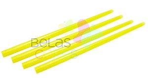 Canudo Amarelo Glitter - 50 unidades