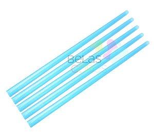 Canudo Azul Glitter - 50 unidades